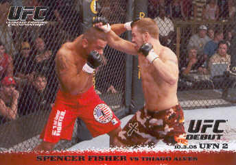 2009 Topps UFC Round 1 #36 Spencer Fisher/Thiago Alves