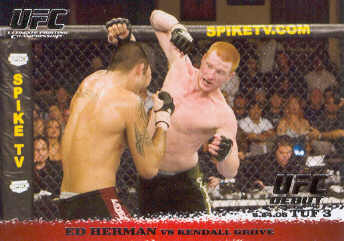 2009 Topps UFC Round 1 #44 Ed Herman/Kendall Grove