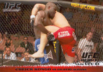 2009 Topps UFC Round 1 #47 Cheick Kongo/Gilbert Aldana