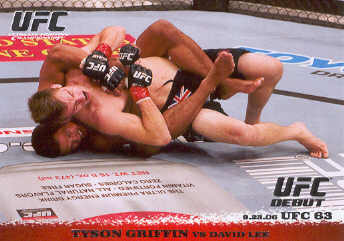 2009 Topps UFC Round 1 #52 Tyson Griffin/David Lee