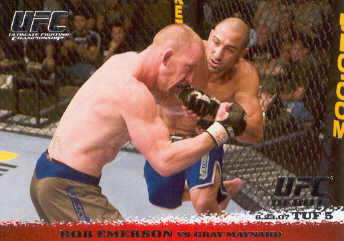 2009 Topps UFC Round 1 #68 Rob Emerson/Gray Maynard