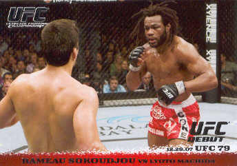 2009 Topps UFC Round 1 #77 Rameau Sokoudjou/Lyoto Machida