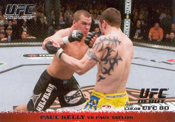 2009 Topps UFC Round 1 #79 Paul Kelly/Paul Taylor
