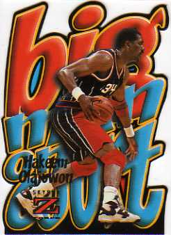 1996-97 Z-Force Big Men on the Court #7 Hakeem Olajuwon
