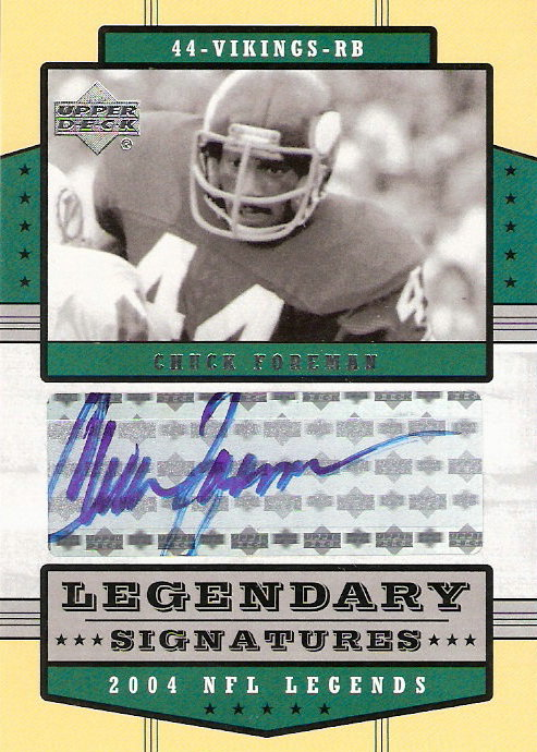 2004 Upper Deck Legends Legendary Signatures #LSCF Chuck Foreman