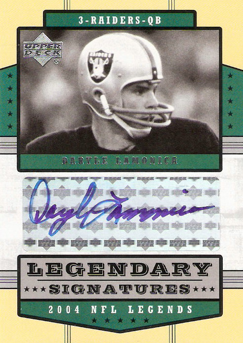 2004 Upper Deck Legends Legendary Signatures #LSDL Daryle Lamonica