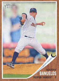 2011 Topps Heritage Minors #4 Manny Banuelos