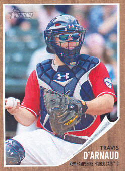 2011 Topps Heritage Minors #9 Travis D'Arnaud