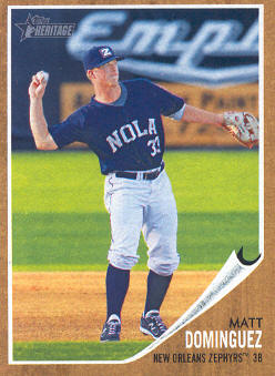 2011 Topps Heritage Minors #12 Matt Dominguez