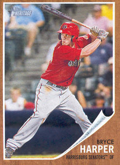 2011 Topps Heritage Minors #16 Bryce Harper