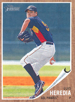 2011 Topps Heritage Minors #18 Luis Heredia