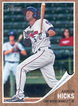 2011 Topps Heritage Minors #19 Aaron Hicks