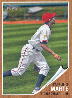 2011 Topps Heritage Minors #25 Starling Marte