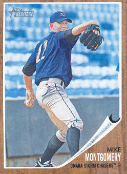 2011 Topps Heritage Minors #30 Mike Montgomery