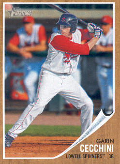 2011 Topps Heritage Minors #42 Garin Cecchini