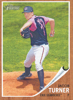 2011 Topps Heritage Minors #45 Jacob Turner