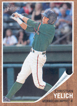 2011 Topps Heritage Minors #49 Christian Yelich
