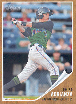 2011 Topps Heritage Minors #52 Ehire Adrianza