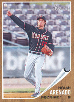 2011 Topps Heritage Minors #53 Nolan Arenado