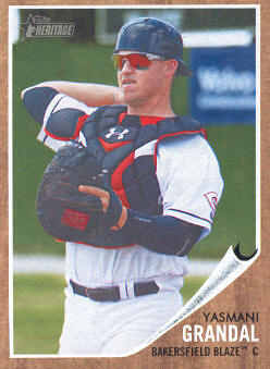 2011 Topps Heritage Minors #55 Yasmani Grandal