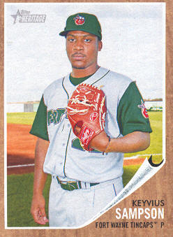 2011 Topps Heritage Minors #58 Keyvius Sampson