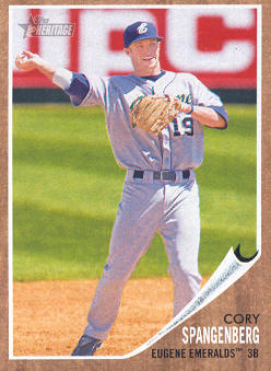 2011 Topps Heritage Minors #59 Cory Spangenberg