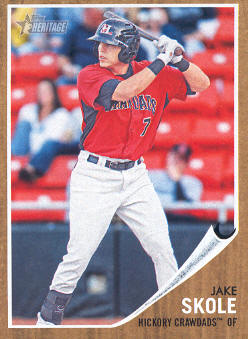 2011 Topps Heritage Minors #61 Jake Skole
