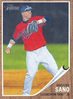 2011 Topps Heritage Minors #64 Miguel Sano