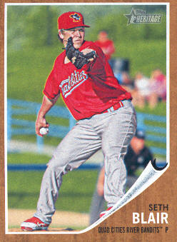 2011 Topps Heritage Minors #66 Seth Blair