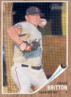 2011 Topps Heritage Minors #68 Drake Britton