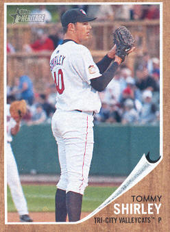 2011 Topps Heritage Minors #69 Tommy Shirley