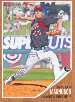 2011 Topps Heritage Minors #72 Trystan Magnuson