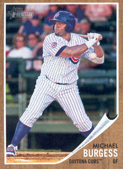 2011 Topps Heritage Minors #73 Michael Burgess