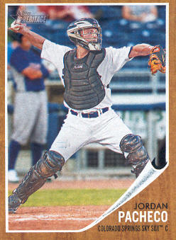 2011 Topps Heritage Minors #75 Jordan Pacheco