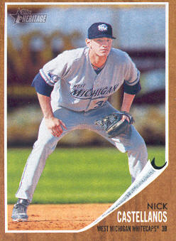 2011 Topps Heritage Minors #76 Nick Castellanos