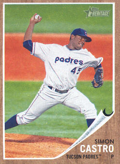 2011 Topps Heritage Minors #77 Simon Castro