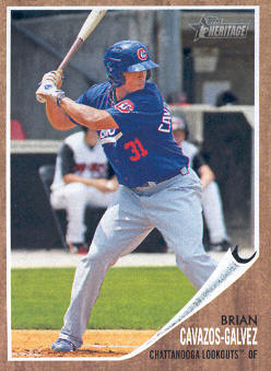 2011 Topps Heritage Minors #79 Brian Cavazos-Galvez