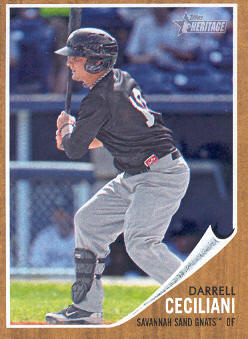 2011 Topps Heritage Minors #81 Darrell Ceciliani