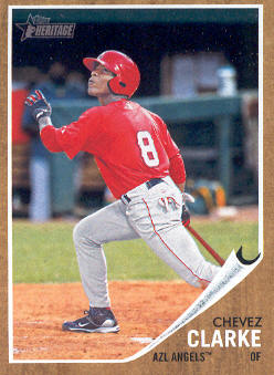 2011 Topps Heritage Minors #82 Chevez Clarke