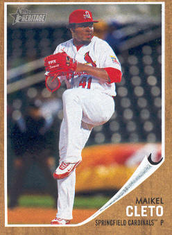 2011 Topps Heritage Minors #83 Maikel Cleto