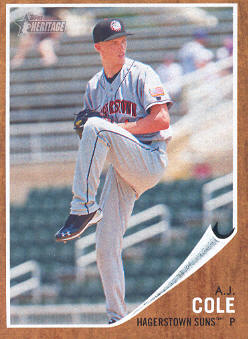 2011 Topps Heritage Minors #84 A.J. Cole