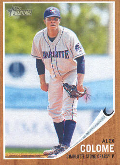 2011 Topps Heritage Minors #85 Alex Colome