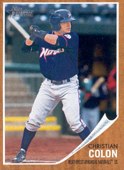 2011 Topps Heritage Minors #86 Christian Colon