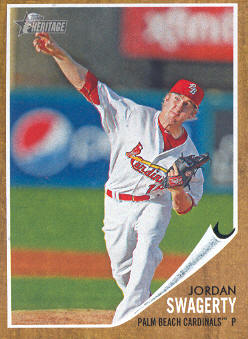 2011 Topps Heritage Minors #93 Jordan Swagerty