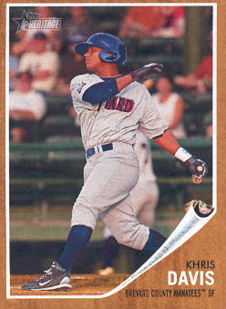 2011 Topps Heritage Minors #96 Khris Davis