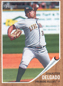 2011 Topps Heritage Minors #97 Dimaster Delgado