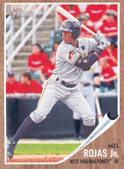 2011 Topps Heritage Minors #98 Mel Rojas Jr.