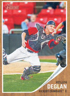 2011 Topps Heritage Minors #101 Kellin Deglan