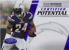 2010 Certified Certified Potential Blue #16 Ryan Mathews