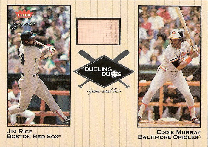 2002 Greats of the Game Dueling Duos Game Used Single #JR2 Eddie Murray/Jim Rice Bat